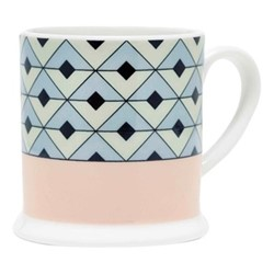 Tile Espresso cup, 6.6 x 6.1cm, blush/duck egg
