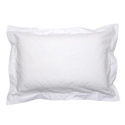 Matilda Oxford pillowcase, 50 x 75cm, white 200 thread count cotton