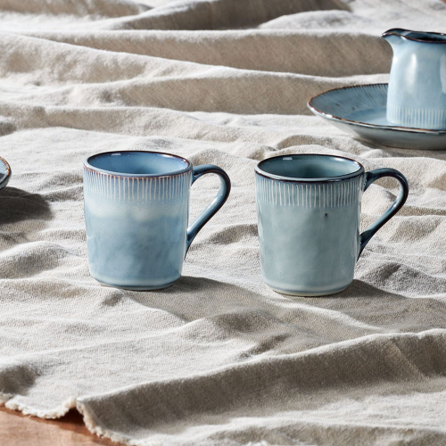Malia Mug, Set of 2, Dusty Blue