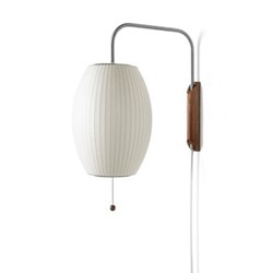 Cigar Wall sconce, W50.2 x H47.5cm, white