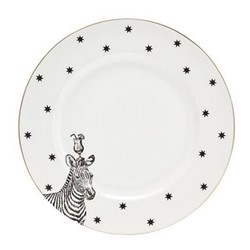 Zebra Set of 6 dinner plates, 26cm