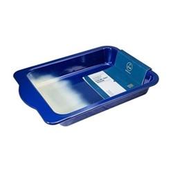 Enamel Medium roasting tray, L36 x W26cm, navy blue