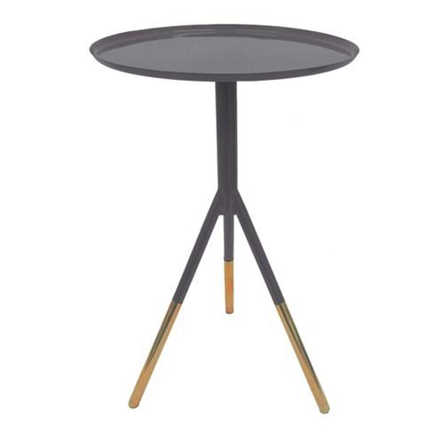 Tripod table, H58cm x Dia37cm, Grey/Copper
