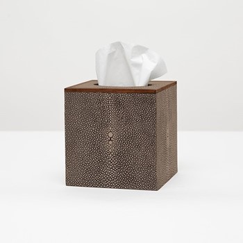 Manchester Tissue box, H14cm, dark mushroom