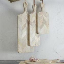 Nalbari Medium chopping board, 2 x 50 x 16cm, Mango Wood