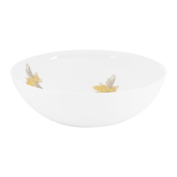 Bee Bowl, H6 x D15cm, white