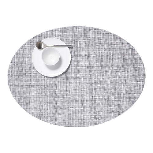 Mini Basketweave Set of 4 oval placemats, 36 x 49cm, Mist
