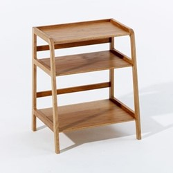 Agnes by Kay + Stemmer Side table, W50 x D33 x H43cm, oak
