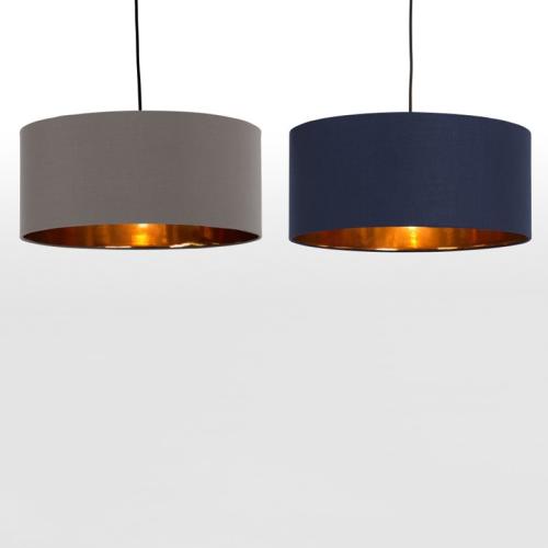Hue Pendant shade, H20 x W45 x D45cm, grey & copper