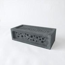 Bee Brick Bee house, 21.5 x 10.5 x 6.5cm, charcoal