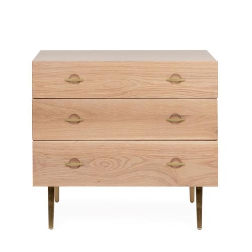 Crawford 3 drawer chest, H73 x  W80 x D42cm, Light Oak
