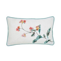 Cottage Check Cushion, L50 x W30 x H10cm, white