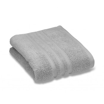 Zero Twist Pair of face cloths, 30 x 30cm, silver