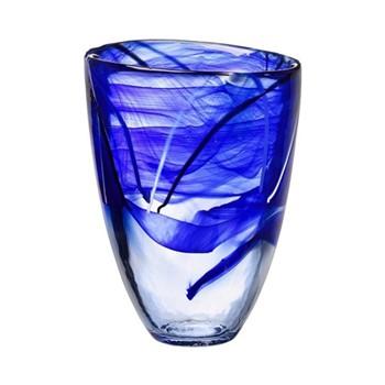 Contrast Vase, blue