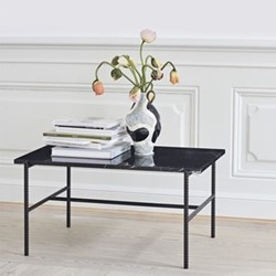 Coffee table with marble top L80 x W49 x H40.5cm