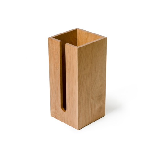Mezza Loo roll holder box, H33.5 x W15.5 x D15.5cm, Oak