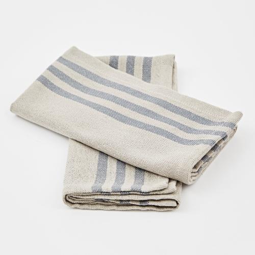 Maxime Set of 4 napkins, W50 x L50cm, Linen / Blue