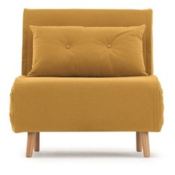 Haru Single sofa bed, H78 x W77 x D86cm, butter yellow