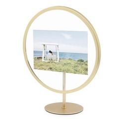"Infinity Photo display, 4 x 6"", matte brass"