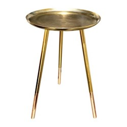 Small round table, H52cm x Dia31cm, brass