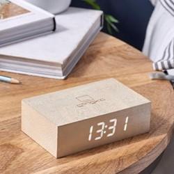 Flip Click Clock, L11.5 x W7 x H3.6cm, white maple