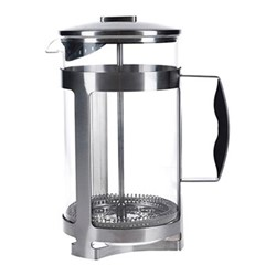 Trieste Cafetiere, 12 cup - 1.5 litre, metallic gray