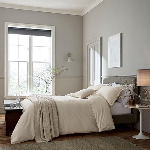 Calm Kingsize Duvet Cover, L230 x W220cm, Grey