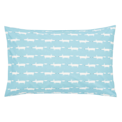 Mr Fox Standard pillowcase, L48 x W74cm, Teal