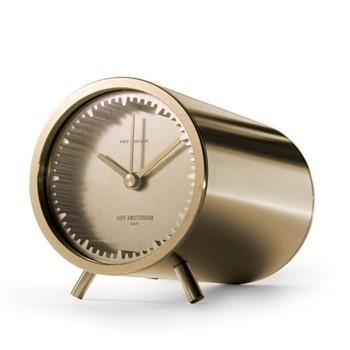 Tube by Piet Hein Eek Desk clock, L8 x D5cm, brass