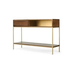 Anderson Console table, H80 x W120 x D34cm, mango wood/brass