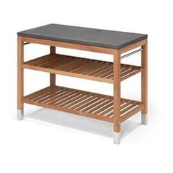 Module 2 Pantry table, L114 x W60 x H91.5cm, teak/stainless steel