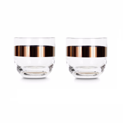 Tank Pair of whisky glasses, W8.5 x H8cm, Glass