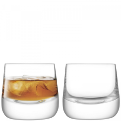 Bar Culture Pair of whisky glasses, 220ml, clear