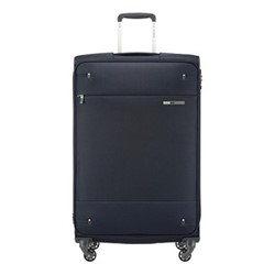 Base Boost Spinner expandable suitcase, 78 x 48 x 31/34cm, navy blue stripes