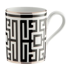 Labirinto Mug, 40cl, nero