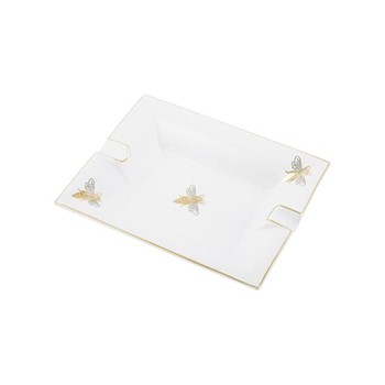 Bee Trinket tray, L20 x W16 x H3.6cm, white