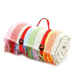 Stripes Picnic rug, 145x183cm, Rainbow
