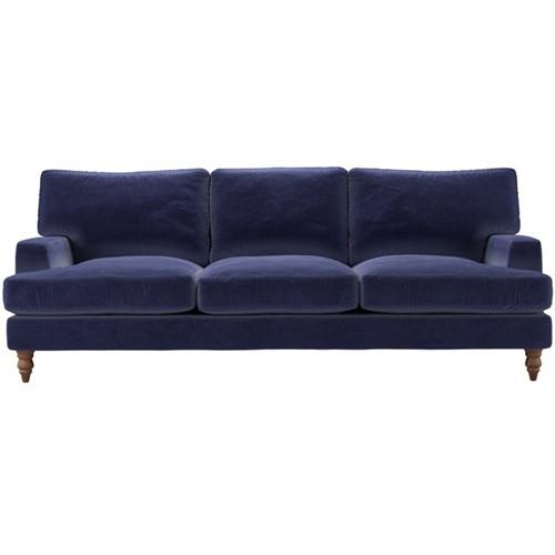Isla 4 seater sofa, H92 x W243 x D104cm, Prussian Blue