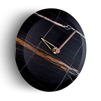 Bari M Sahara Noir Wall hanging clock, D32cm, sahara noir marble