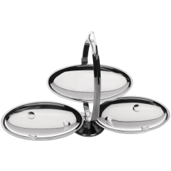Anna Gong by Alessandro Mendini Cake stand, folding, 44 x 20 x 27cm, Stainless Steel