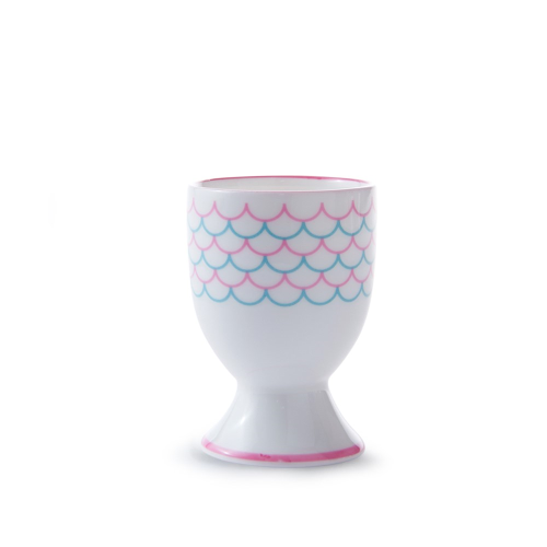 Wave Egg cup, H6.5cm, Pink/Turquoise