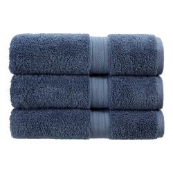 Renaissance Pair of hand towels, 50 x 100cm, Denim