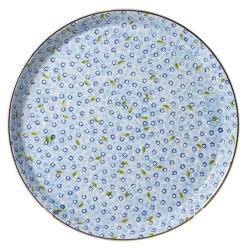 Lawn Presentation platter, D35cm, light blue