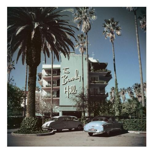 Slim Aarons - Beverly Hills Hotel Mounted print, H51 x W51cm, Perspex
