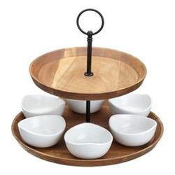 Artesa 2 tier serving set, 25 x 24cm