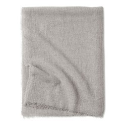 Esra Fine woven lightweight two-tone throw, 200 x 145cm, Mist