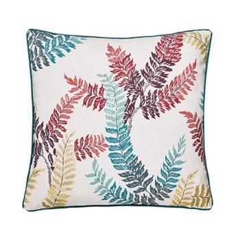 Oriental Peony Cushion, L40 x W40 x H10cm, berry