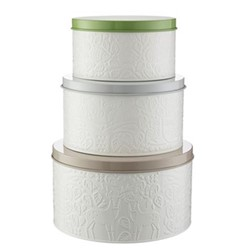 In The Forest Set 3 cake tins, cream/multi