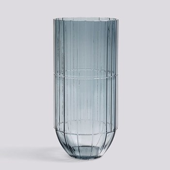 Colour Extra large glass vase, H27.5 x W13cm, blue