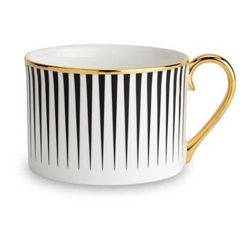 Lustre Coffee cup, D8.5 x H5.8cm, black stripe